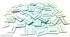 PACK OF 50 ADHESIVE METAL CABLE CLIPS SIZE SMALL 20mm x 30mm FOR 4mm CABLE