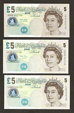 2002 / 2004 / 2012  England £5 Pounds Notes Set Uncirculated