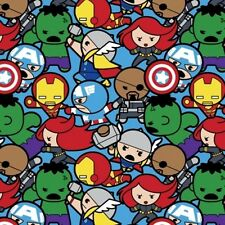 Springs arvel Super Heroes 60589 A620715 Kawaii Packed BTY COTTON Fabric