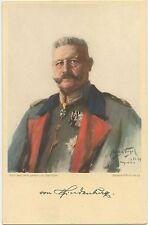German WW1 Leader 'Paul Von Hindenburg' Artists Postcard Hugo Vogel 1913 (588)