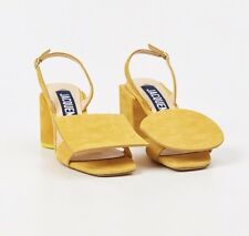 Jacquemus Rond Carre Sling Back Suede Yellow FR38 : US 7-7.5 Sold Out Rear