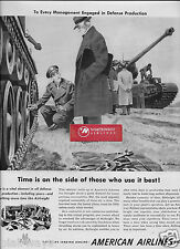 AMERICAN AIRLINES 1951 TIME IS ON SIDE OF THOSE WHO USE IT BEST AIRFREIGHT AD