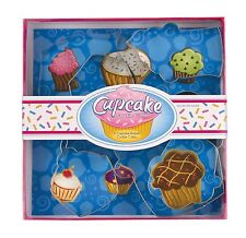 Fox Run Cupcake 6 pc Tinplated Cookie Cutters Jell-O Sandwich Craft NEW 6030