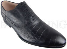 CALZOLERIA ZENOBI CROCODILE EMBOSSED OXFORDS EU 43 MENS SHOES