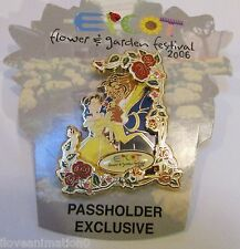 Disney Epcot Flower and Garden Festival Belle and the Beast Passholder Pin