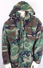 US Army Cold Weather Field Camo Coat (Size Small Long) W/ Sewn in Liner and Hood