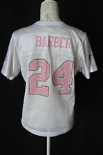NFL Reebok Womens Large White Pink Dallas Cowboys Barber 24 Jersey Football TX.