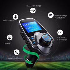 Bluetooth MP3 Reproductor Transmisor FM Coche Kit con USB Manos libres Call para