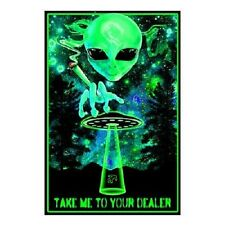 Take Me To Your Dealer Poster Print Wall Art Home Smoke Pot Marijuana Ganja
