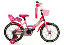 POPAL 18P Mädchen Kinderrad Little Miss Kinder Fahrrad 18 Zoll Rosa Pink NEU