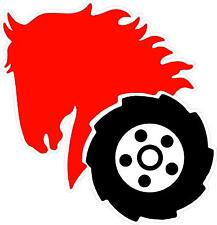 WHEEL HORSE HEAD CONTOUR CUT DECAL - SET OF 2