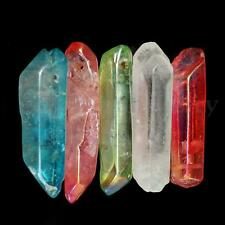 5PCS POWERFUL TITANIUM RAINBOW AURA LEMURIAN SEED QUARTZ CRYSTAL POINT STICK