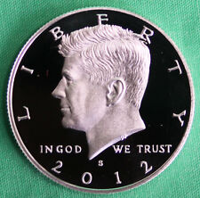 2012 S Proof SILVER Kennedy Half Dollar Coin 50 Cent JFK from US Mint Proof Set
