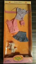 ONLY HEARTS CLUB READY TO WEAR PURPLE BLOUSE, PINK VEST, BLUE RUFFLED SKIRT, PET