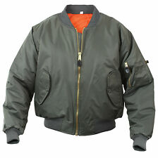 GUNMETAL GREY Military Reversible MA-1 Bomber Jacket Flight Coat Rothco 7350