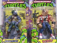 Teenage Mutant Ninja Turtles TMNT - Bebop & Rocksteady set 2 - MISB/ hot toys
