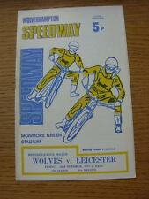 22/10/1971 Speedway Programme: Wolverhampton v Leicester  (Results Noted Inside)