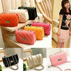 Women Lady Messenger Bag Leather Crossbody Satchel Shoulder Handbag Chain Tote