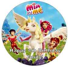 Mia And Me Personalised Cake Topper Edible Wafer Paper 7.5""