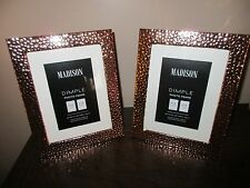 2x copper dimple photo frame next day post out 10x8