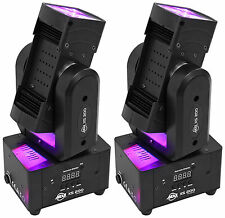 (2) American DJ ADJ XS 200 RGBW LED Rotating FX Moving Head Effect Lights XS200