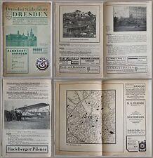 Deutscher Städteführer Dresden 1928 - Ortskunde, Reiseführere, Sachsen - xz