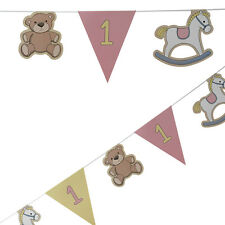 Girls 1st birthday bunting ROCK-A-BYE BABY party banner