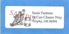 WESTERN BARREL RACING HORSE 90 PERSONAL ADDRESS LABELS GIFT 4 CAN CHASER  RACER