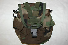 USGI US MILITARY Issue MOLLE II CANTEEN COVER / GENERAL PURPOSE POUCH Woodland