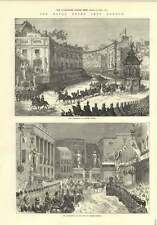 1874 Royal Entry Into London Oxford Circus Regent Street
