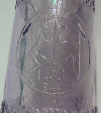 1890's Tooled Top Bitters Real Fancy L S Co Purple Sun Colored Amethyst
