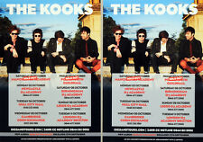3 X THE KOOKS TOUR FLYER CARDS - JUNK OF THE HEART TOUR