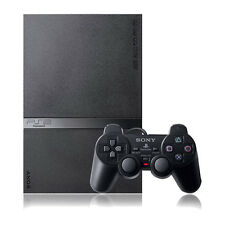 Sony PlayStation 2 Slim Charcoal Black Console - Very Good Condition COMPLETE