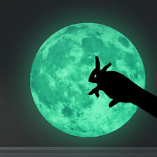 30cm Luminous Moon Glow in the Dark Removable Wall Stickers Moonlight Decor DIY