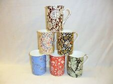 Set of 6 assorted William Morris 10oz mugs