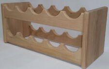 SOLID LIGHT OAK WINE RACK 10 BOTTLE