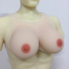 1400g Silicone Breast Form Male Crossdress Vest Fake Breast Transgender Boobs