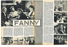 Coupure de presse Clipping 1962 (2 pages ) Charles Boyer Maurice Chevalier Fanny