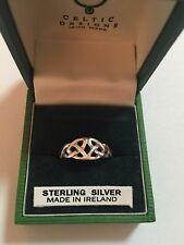 CELTIC DESIGNS * IRISH MADE * Sterling Silver Celtic Ring * Size 7 * EUC