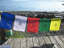 TIBETAN NUNS PROJECT MEDIUM GREEN TARA BUDDHIST PRAYER FLAGS W/ NUNS BLESSING