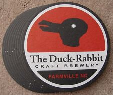 Lot of 10 Duck Rabbit Micro Beer Coasters Farmville NC Craft NEW Mat Bar Pub