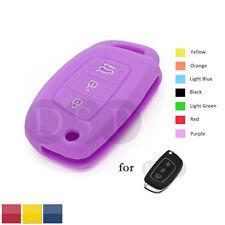 Granular Pattern Silicone Skin fit for Hyundai HB20 Flip Remote Key Case PU