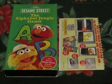SESAME STREET~THE ALPHABET JUNGLE GAME~EDUCATIONAL VHS~KIDS LEARN ABOUT LETTERS~