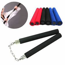 Martial Arts Foam Sponge Padded Karate Stick Training Nunchaku Ninja Nunchuck