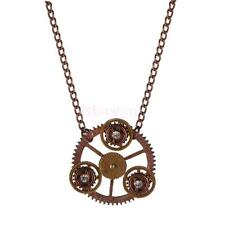Steampunk Necklace Chain Pendant -Vintage Watch Gears Cogs Charm Jewelry New