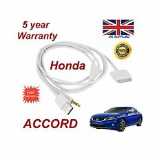 Honda ACCORD For Apple iPhone 3GS 4 4s iPod USB & 3.5mm Aux Cable White