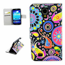 Cell Phone Leather Flip Wallet Skin Cover Case For Samsung Galaxy S4 S IV i9500