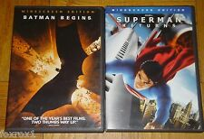 Batman Begins & Superman Returns Warner Brothers Set of 2 DVD Widescreen Edition
