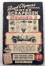 VINTAGE 1956 FLOYD CLYMER'S MOTOR SCRAP BOOK NUMBER 3