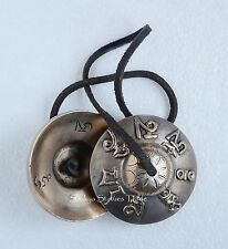 """3"""" Fine Quality Hand Carved Tibet Buddhist Tingsha Cymbals From Patan, Nepal"""